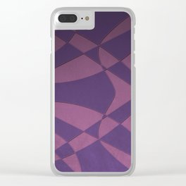 Wings and Saild - Purple and Pink Clear iPhone Case