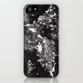world map galaxy black and white iPhone Case