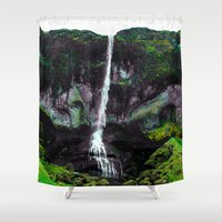 iceland Shower Curtains featuring Trippy Iceland  by Lexi Colt