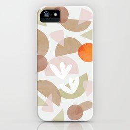 Minimal Autumnal Dance 1 iPhone Case
