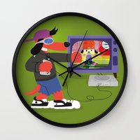 rap Wall Clocks featuring Rap Game by Lily's Factory