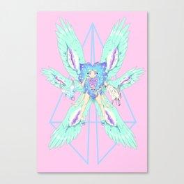 Cherubim Alt- Pink Canvas Print