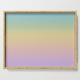 Pastel Rainbow Ombre Gradient Serving Tray