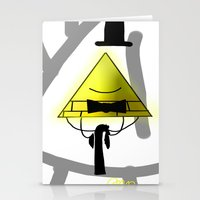 bill cipher Stationery Cards featuring Bill Cipher by Darkerin Drachen