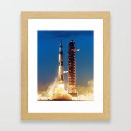 """Apollo Saturn V """"LIFTOFF"""" 1967 Framed Art Print"""
