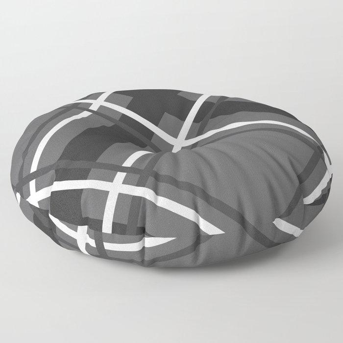 Jumbo Scale Men's Plaid Pattern Floor Pillow