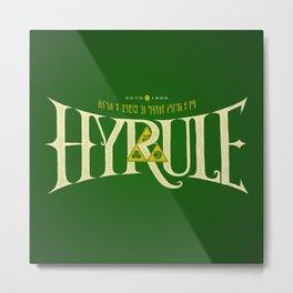 Hyrule Nation Metal Print