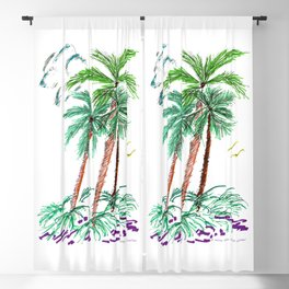 """""""Triplet Palms"""" Blackout Curtain"""