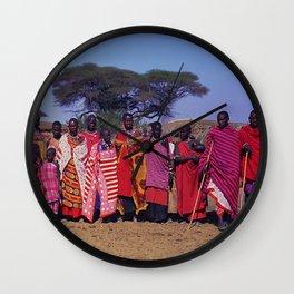 Sweet Welcome to a Massai Village - Kenya, Africa Wall Clock