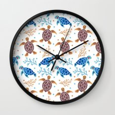 The Sea Turtle Pattern Wall Clock
