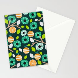 Oranges and flowers Stationery Cards