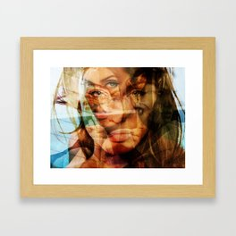 faces of Angelina Jolie3 Framed Art Print