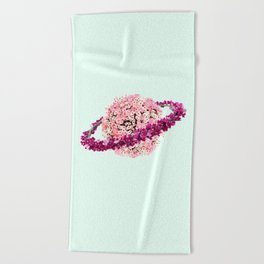 FLORAL PLANET Beach Towel
