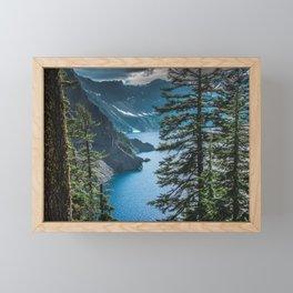 Blue Crater Lake Oregon in Summer Framed Mini Art Print