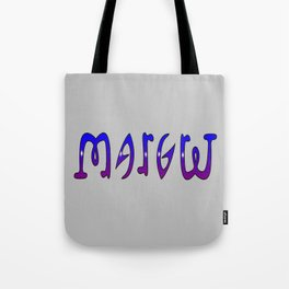 Margret (Ambigram) Namendreher Tote Bag