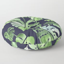Delicate Monstera Blue #society6 Floor Pillow