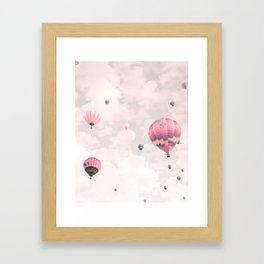 Hot air balloons, violet II Framed Art Print