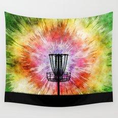 Tie Dye Disc Golf Basket Wall Tapestry