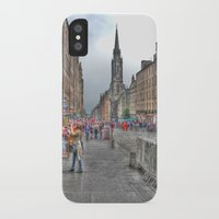 edinburgh iPhone & iPod Cases featuring Edinburgh by Christine Workman