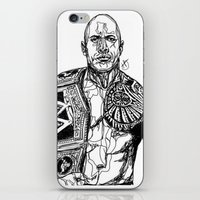 allyson johnson iPhone & iPod Skins featuring Dwayne 'The Rock' Johnson by Hollie B
