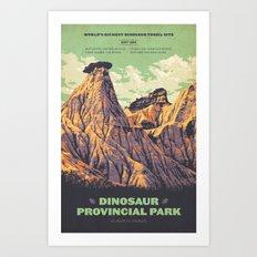 Dinosaur Provincial Park Art Print