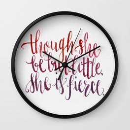 Shakespeare Quote - Handletter Watercolor Typography  Wall Clock