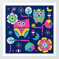 Owls love Art Print