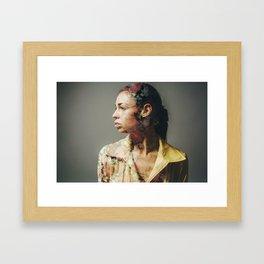 FACE FLORAL Framed Art Print