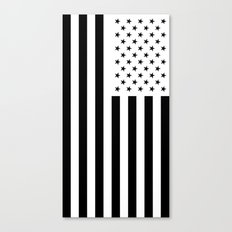 American Flag with Black Stars Canvas Print