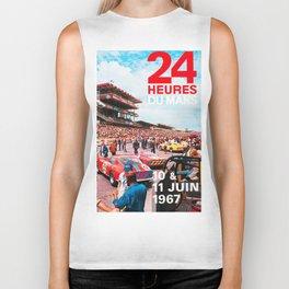 24hs Le Mans 1967, vintage poster Biker Tank