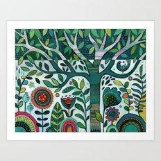 Leafy Garden Art Print