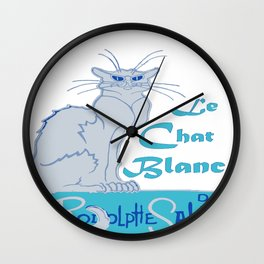 Le Chat Blanc Parody Vector Wall Clock