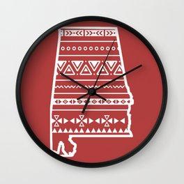Home Sweet Alabama Wall Clock