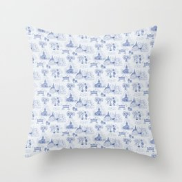 Winnipeg Summer Toile Throw Pillow
