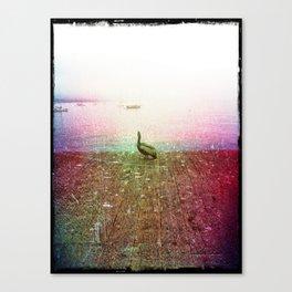 Santa Barbara Beach Pier Pelican Canvas Print