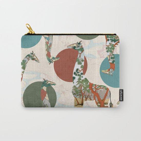 Giraffe Polka Carry-All Pouch