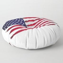 Vintage American flag Floor Pillow