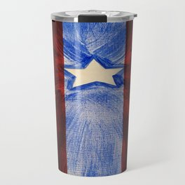 America Red White Blue Cross Travel Mug