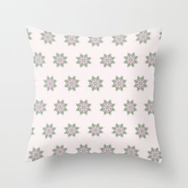 Floral Repeat Pattern Throw Pillow