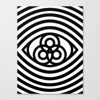 third eye Canvas Prints featuring Third Eye by cmyka
