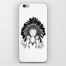 Native American Girl iPhone & iPod Skin
