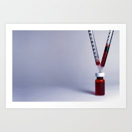 Blood in. Blood out. Art Print