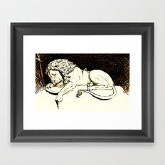 Comic Art: Brave Soul Framed Art Print