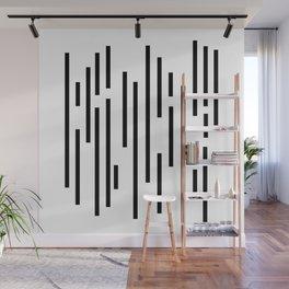 Minimal Lines - Black Wall Mural