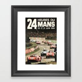 Le Mans 1964, Le Mans poster, Le Mans t shirt, Race poster, Framed Art Print