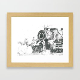 Indian Steam Engine Framed Art Print