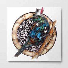 Clock Tui  Metal Print