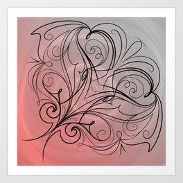 Breast Cancer Awareness Colors Art Print