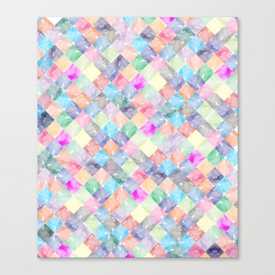 Colorful geometric patterns II Canvas Print