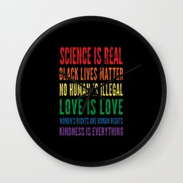 Science is real vintage design Wall Clock